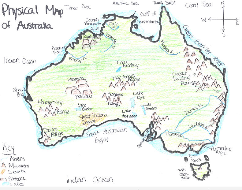 Australia Map Mountains.Places And Spaces Inquiry Projects Year 3 Wcc Nws
